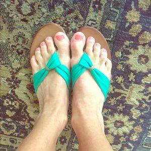 Soft new teal sandals